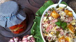 mexido de arroz e feijão