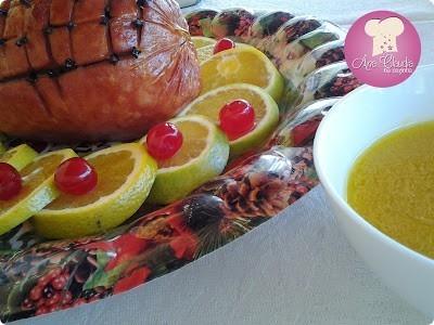 tender ao molho de laranja, presunto com molho de laranja