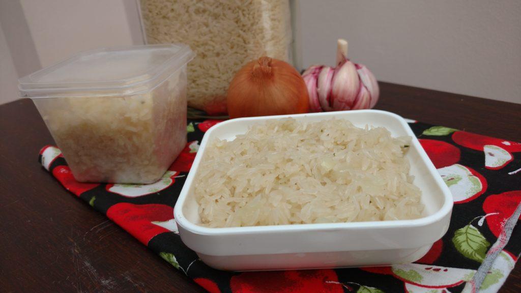 arroz refogado para congelar