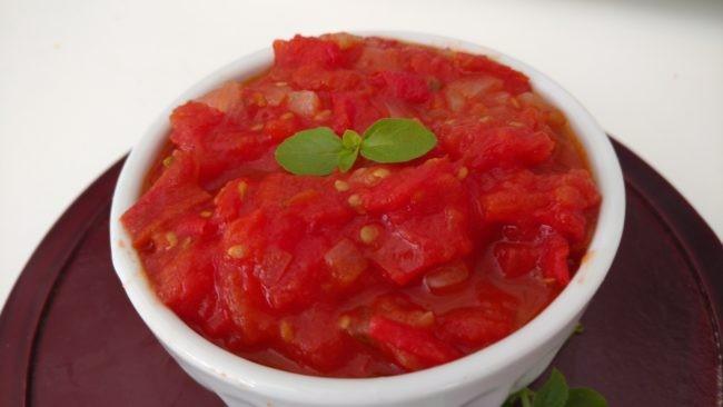 molho de tomate caseiro pedaçudo