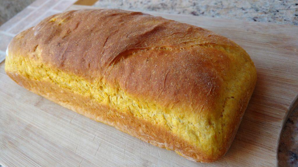 pão caseiro de abóbora