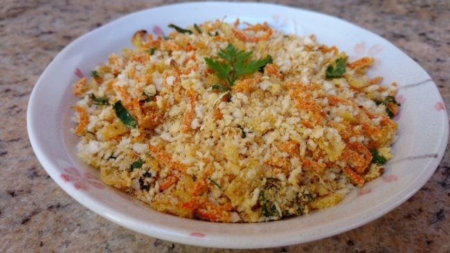 farofa simples de cenoura