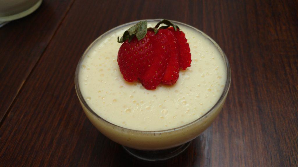 gelatina cremosa de leite em pó