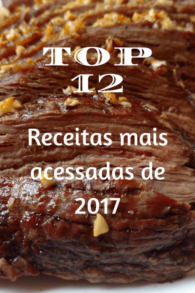 top 12 receitas de 2017