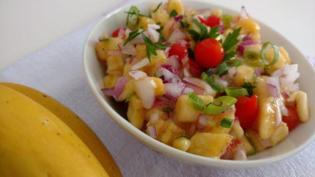 salada de banana e pimenta biquinho